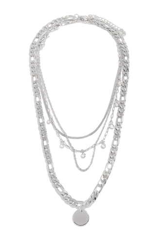 Amelie Necklace Set - Silver