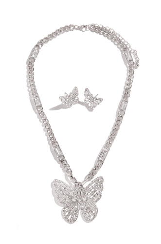 Lena Necklace Set - Silver