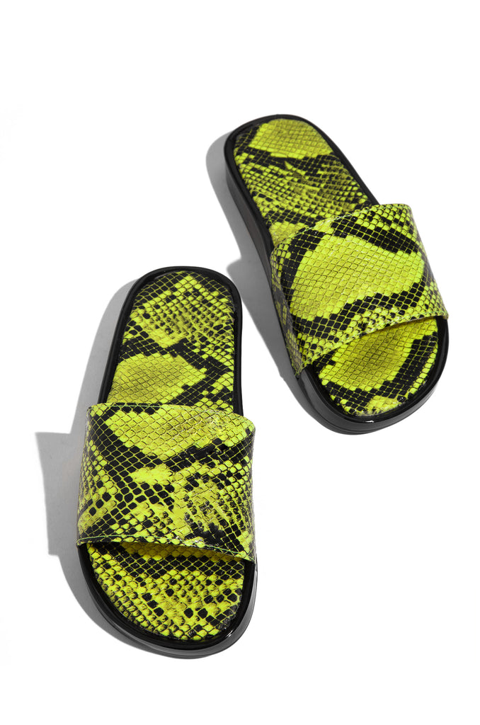 Slide In Style - Neon Yellow Snake                            Regular price     $24.99 8