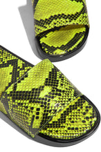 Slide In Style - Neon Yellow Snake