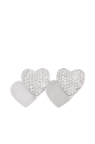 My Heart Earring - Silver