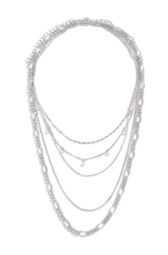 Noemie Necklace Set - Silver
