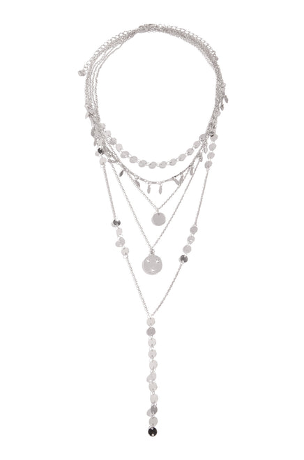 Siana Necklace Set - Silver