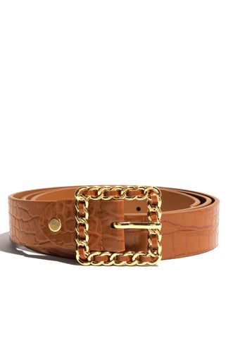 Crown Me Belt - Tan
