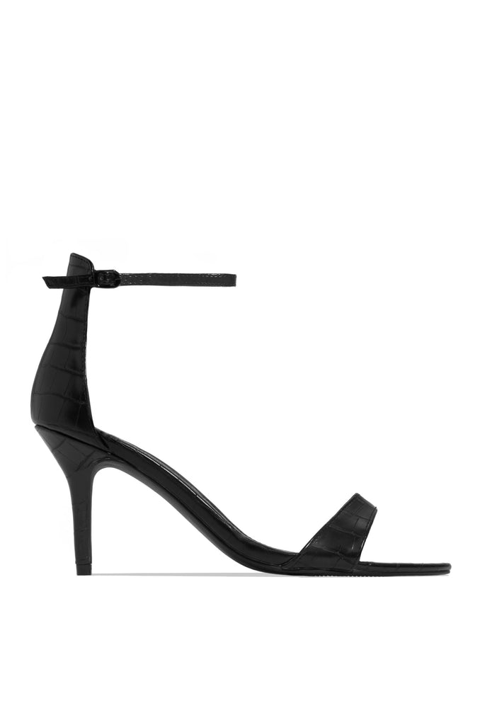 Touch Of Sass Mid Heel - Black
