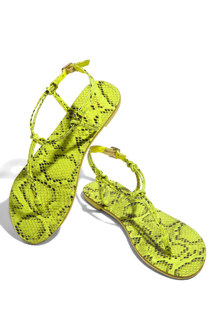 Going Wild - Neon Yellow Snake
