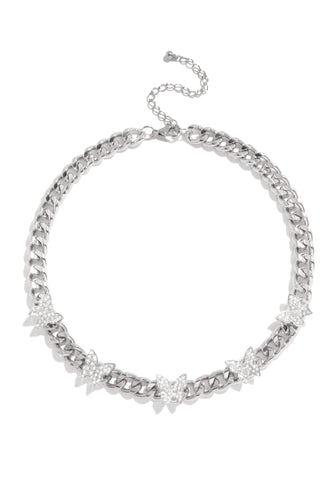 Beautiful and Free Necklace - Silver