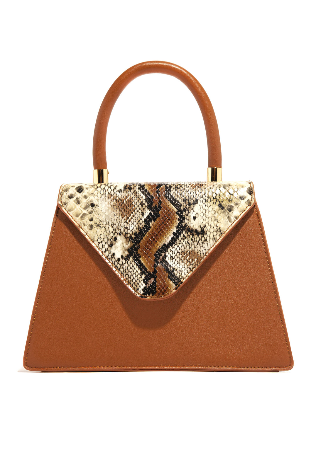 Sinfully Yours Bag - Tan Snake
