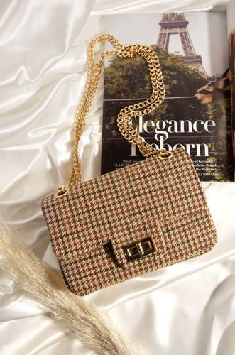 Upper East Side Bag - Nude Houndstooth