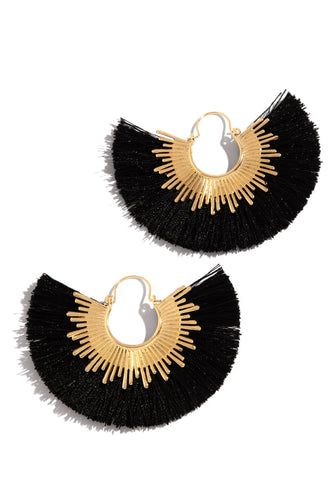 Seaside Vibe Earring - Black