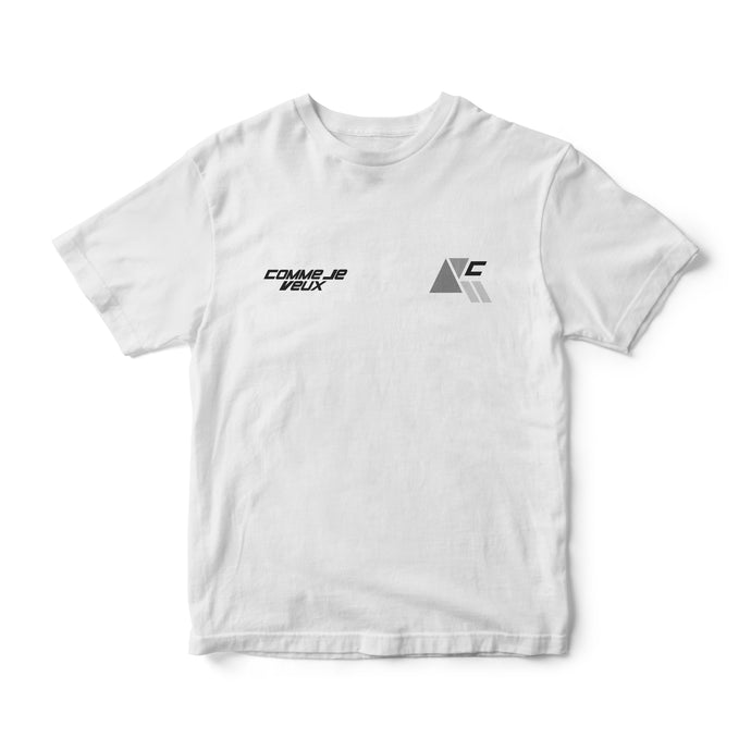 New Realm Graphic Tee - White - Comme Je Veux