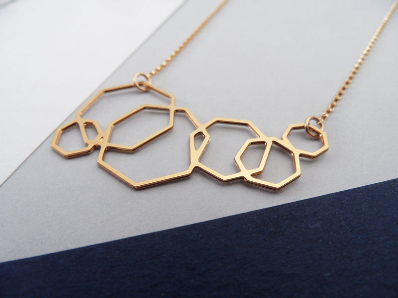 Heptagons Necklace