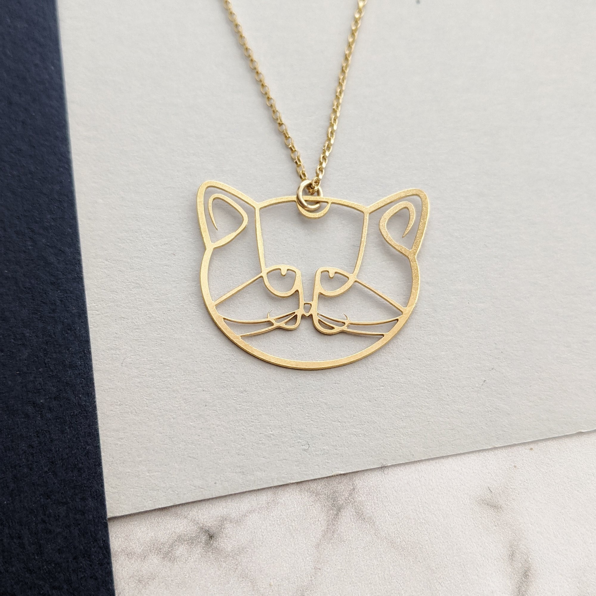 pieceofka cat necklace