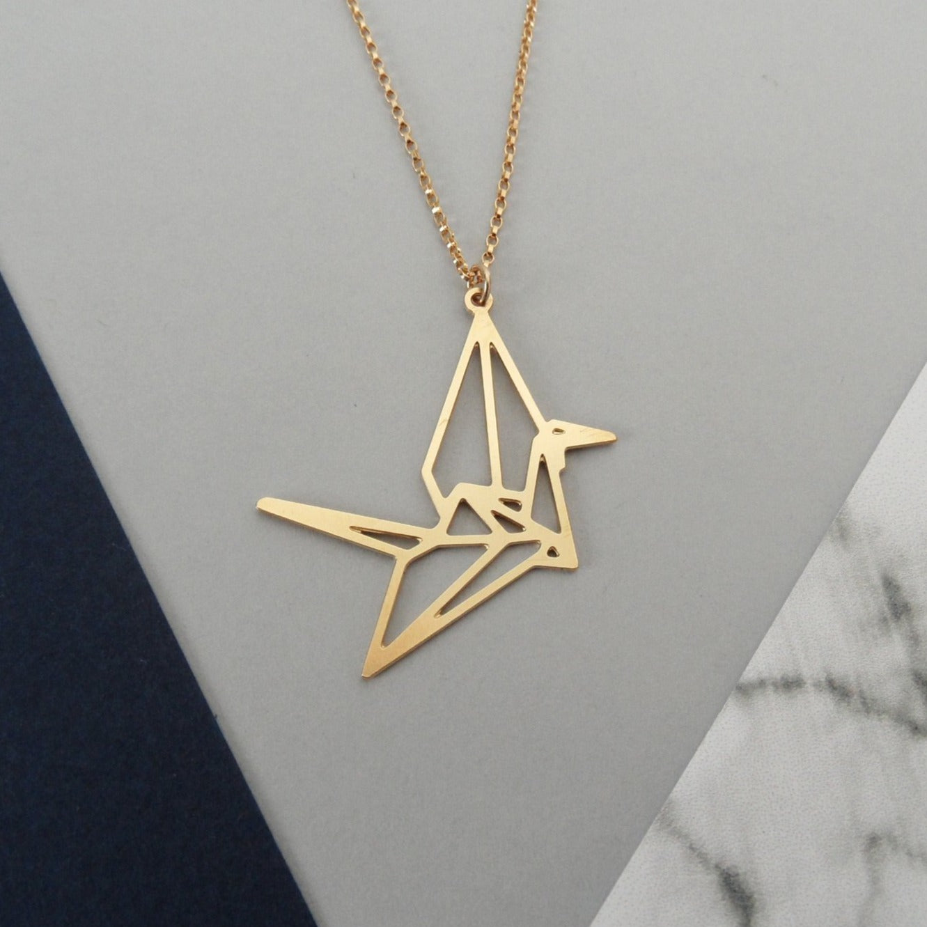 Lucky Crane Necklace