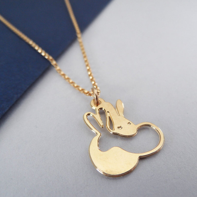 cuddle bunnies necklace by pieceofka