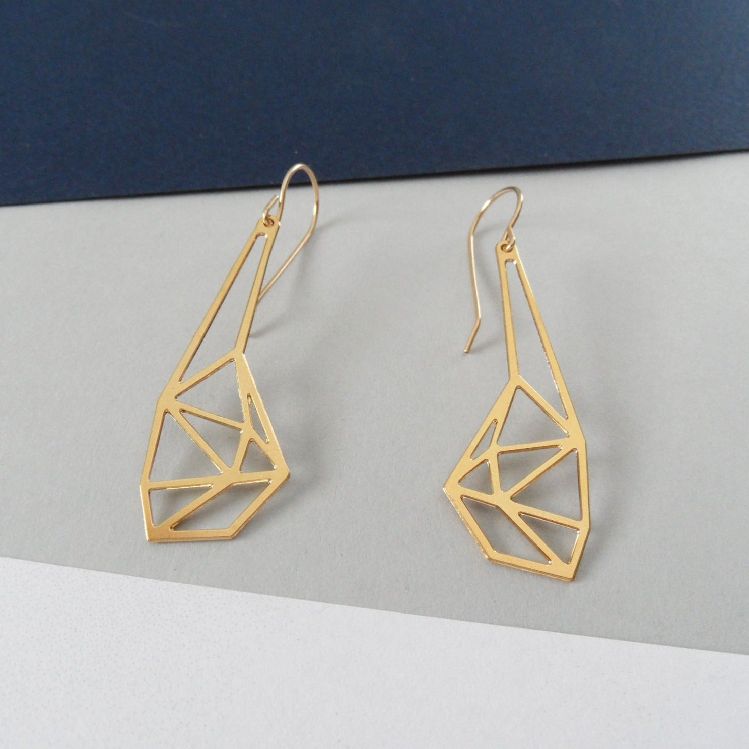 geometric earrings by pieceofka