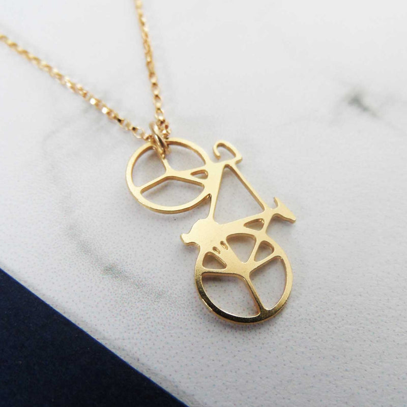 Mini Bicycle Necklace