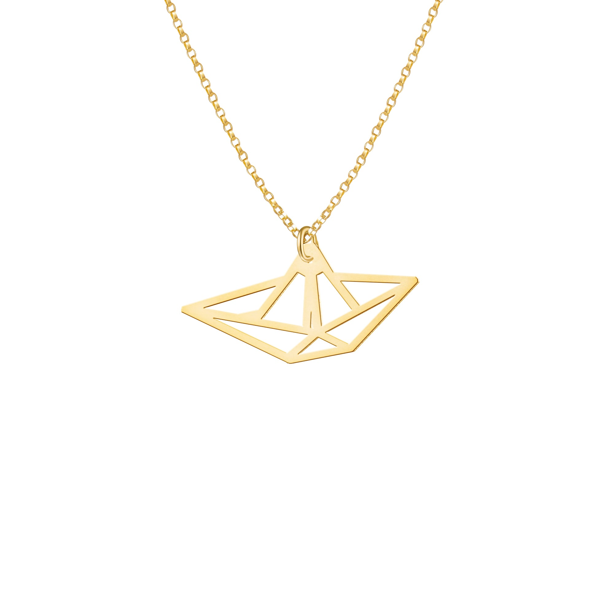 Mini Paper Boat Necklace