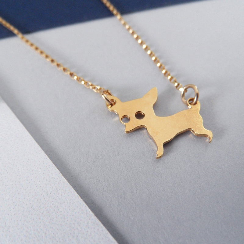 chihuahua necklace by pieceofka