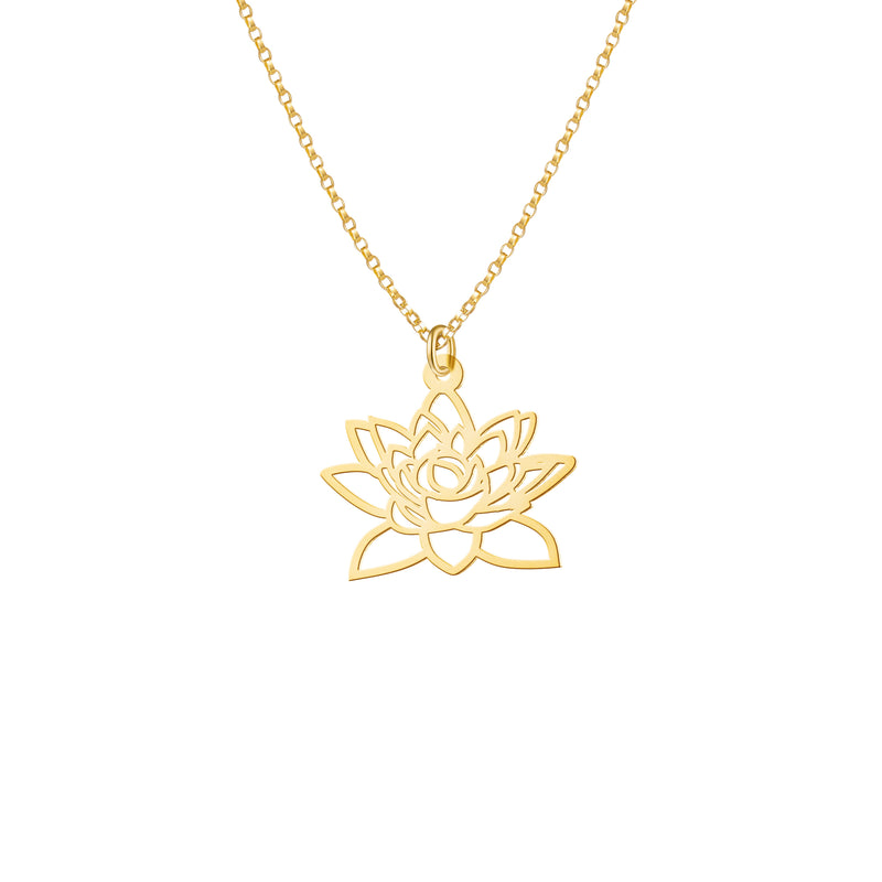 Mini Lotus Flower Necklace