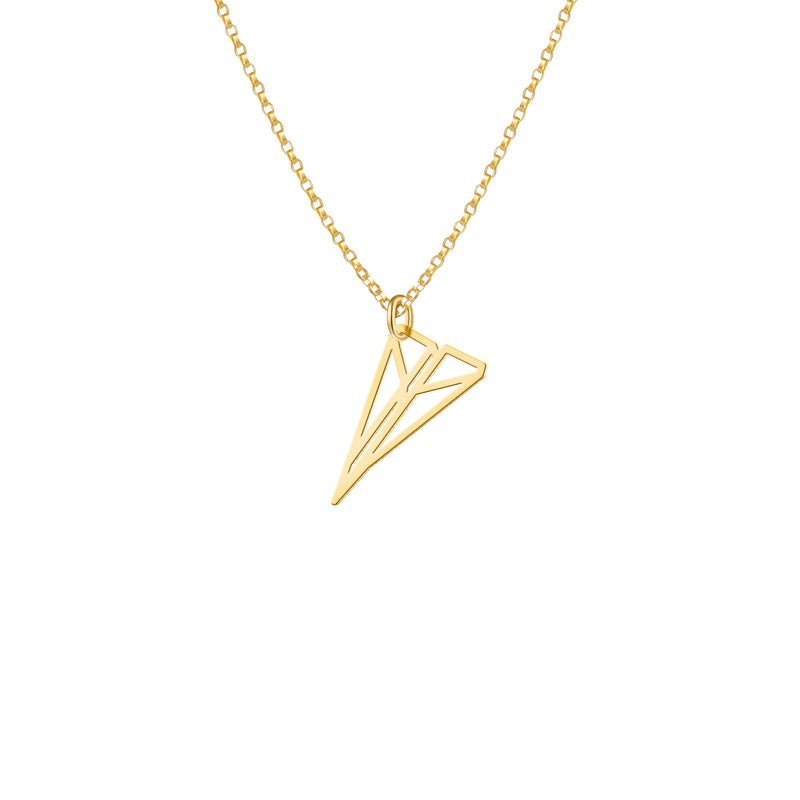 Mini Paper Plane Necklace