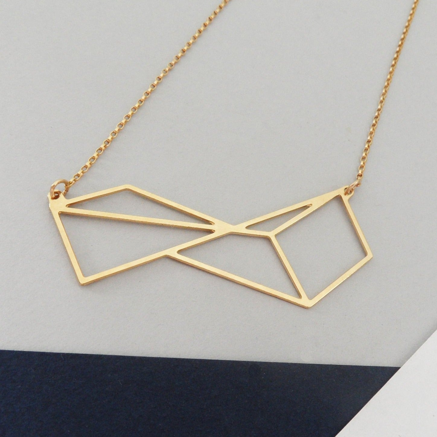 Twisted Rectangle Necklace