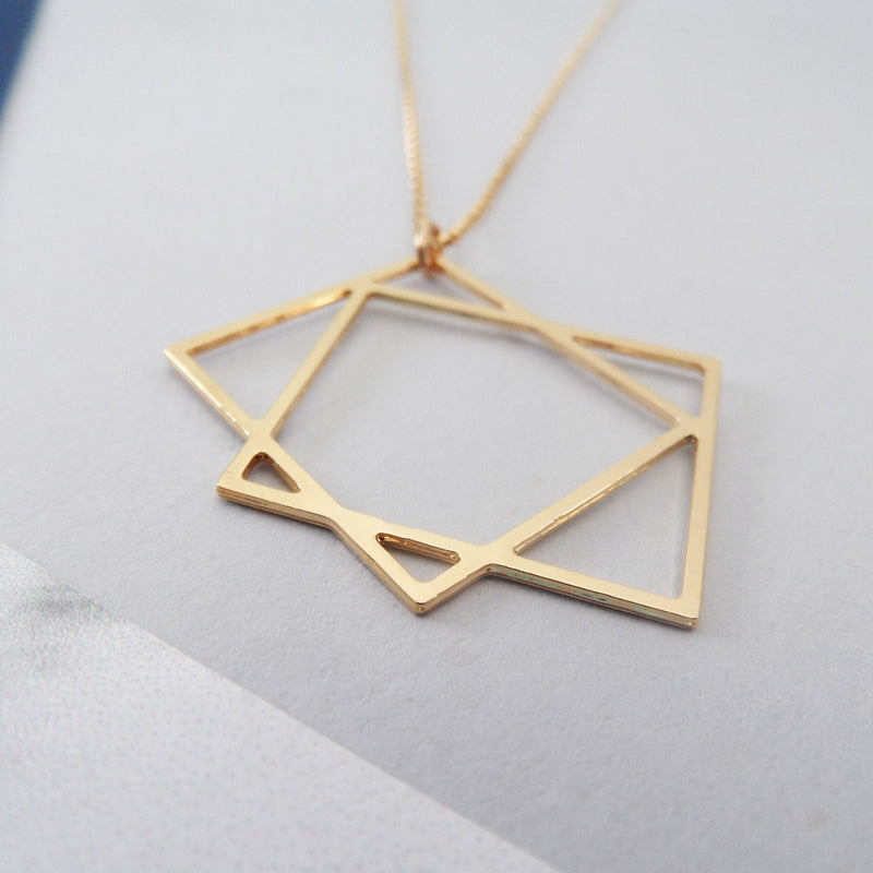 Two Squares Necklace