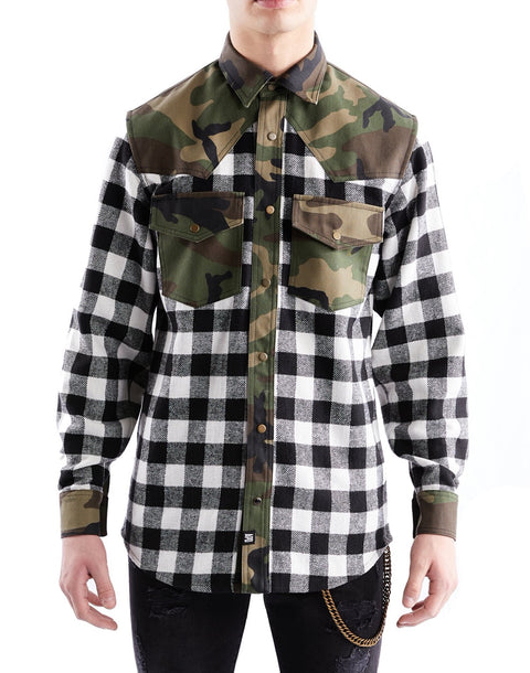 Check and Camo Western Shirt (and Jacket)