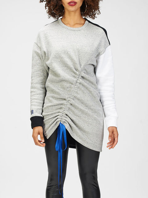 Color Block Sweatshirt Dress (30% OFF)