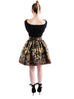Floral and Leopard Jacquard Skirt