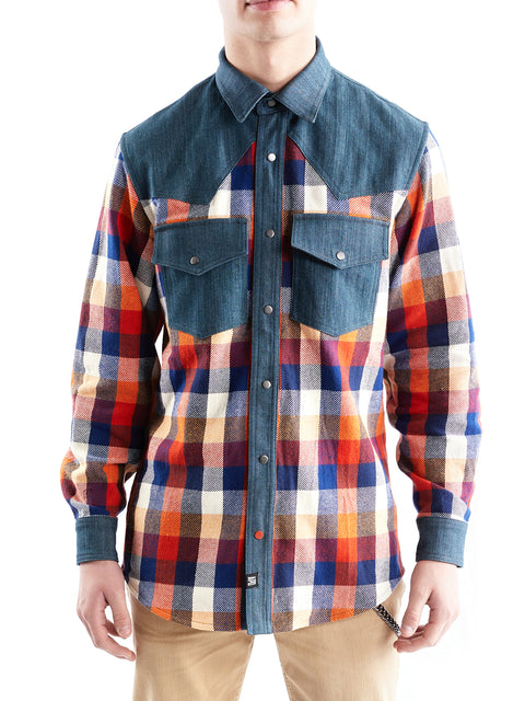 Check and Denim Western Shirt (and Jacket)