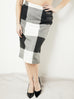 Check Pencil Skirt (40% OFF)