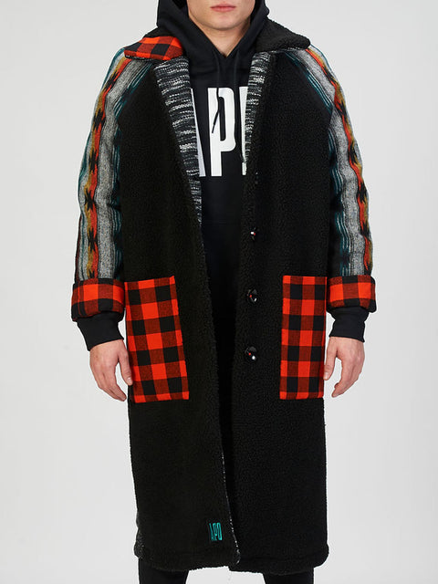 Patchwork Trench Coat (30% 0FF)