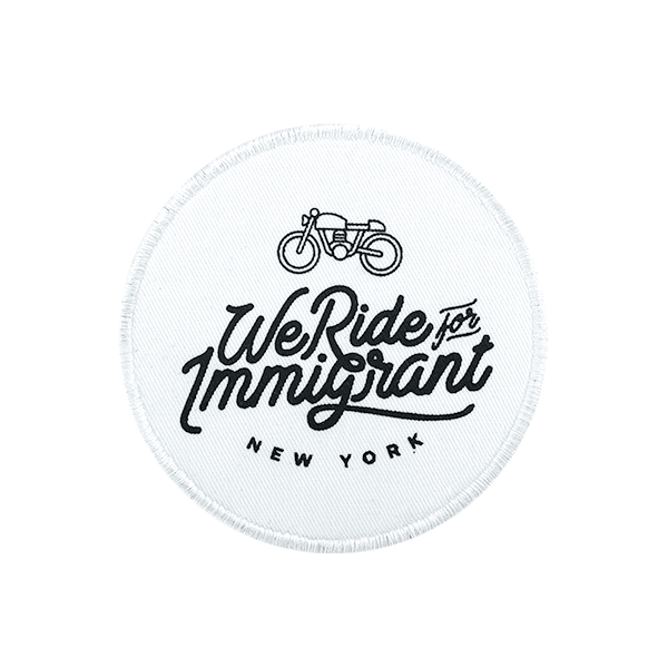 We Ride For Immigrant NY patch