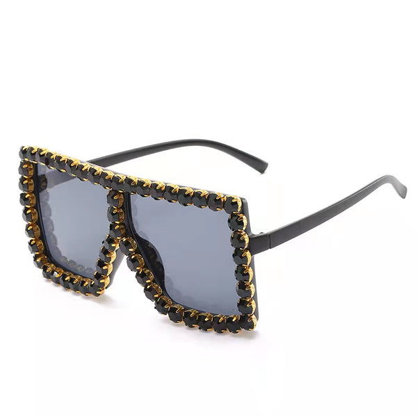 BLING SUNGLASSES - BLACK/BLACK