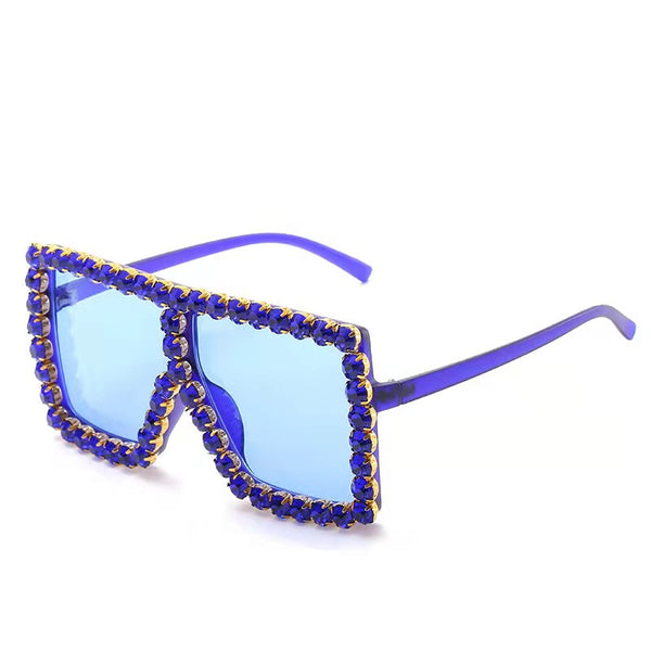 BLING SUNGLASSES - BLUE