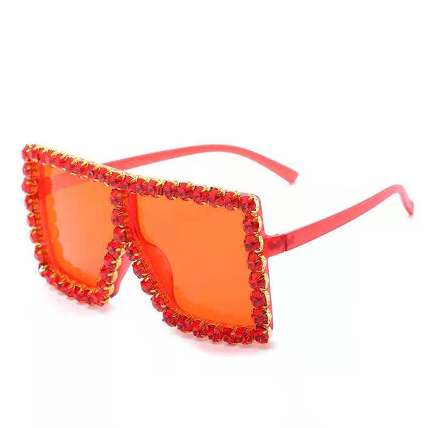 BLING SUNGLASSES - RED