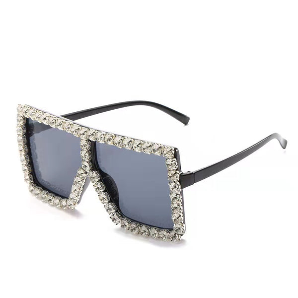 BLING SUNGLASSES - BLACK/SILVER