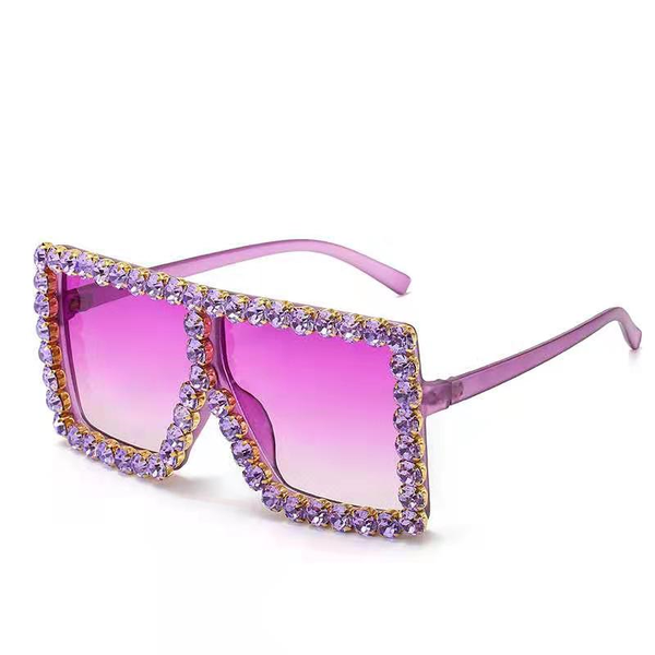 BLING SUNGLASSES - PURPLE