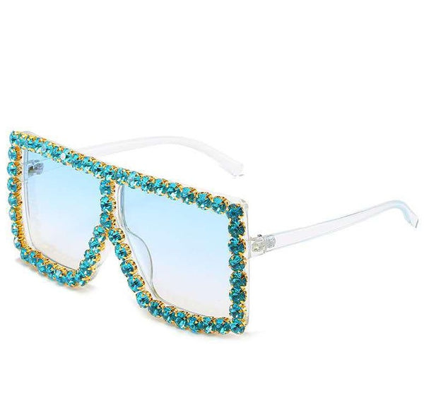 BLING SUNGLASSES - AQUA/BLUE