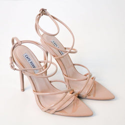 12c4d710b0d274 Ada Strappy Open Toe Stiletto Heels by Cape Robbin - Nude – Hot Miami Shoes