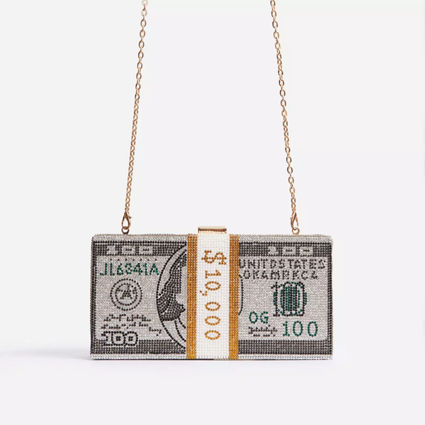 MONEY CLUTCH - WHITE