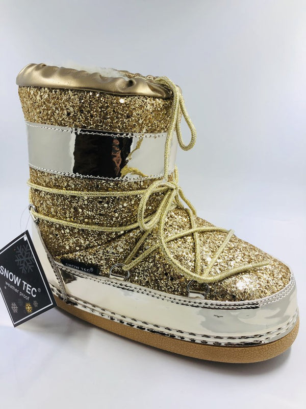 MOON1 - GOLD SPACE BOOTS