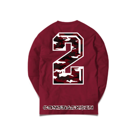 MAROON MONEY MANZIEL LONG SLEEVE T-SHIRT