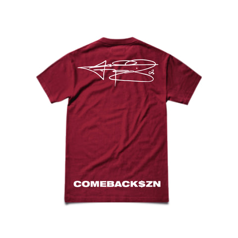 MAROON MONEY MANZIEL T-SHIRT