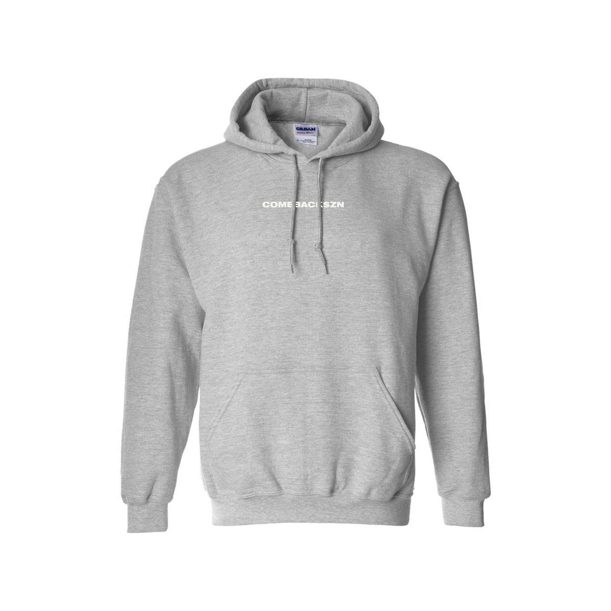 GREY COMEBACKSZN PULLOVER HOODIE