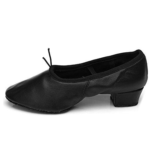 Women's Black Leather Dance Shoe
