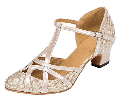 ladies latin shoe or swing dance shoe, champaign color