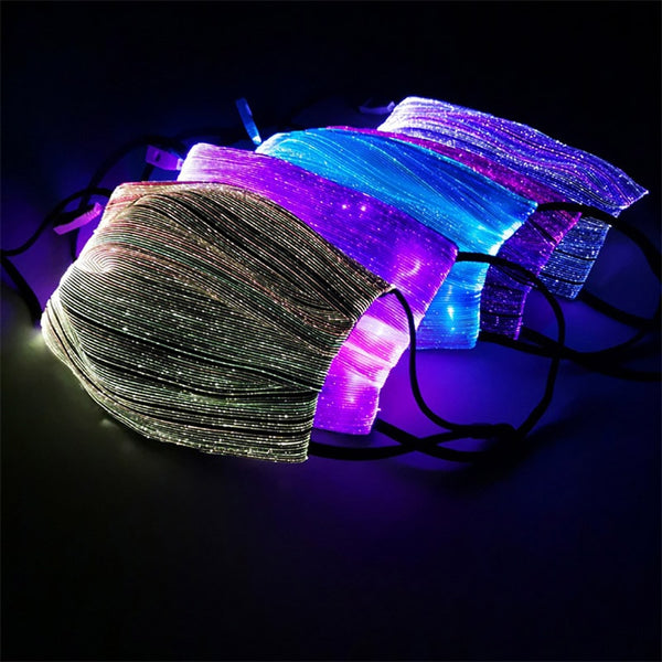 LED Light Up Face Mask