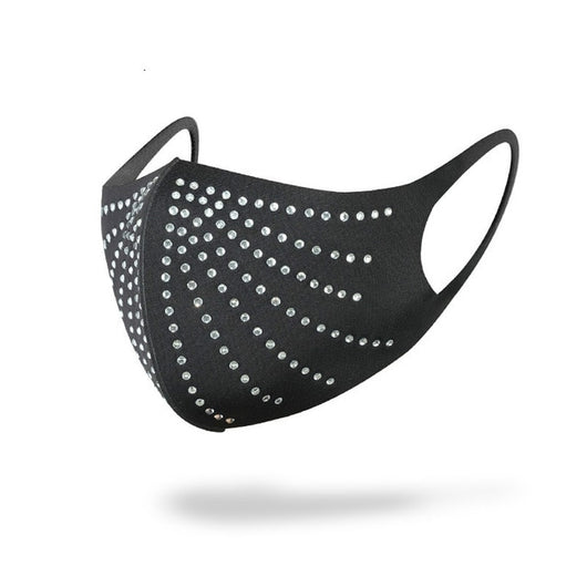 Luxury face mask with rhinestones